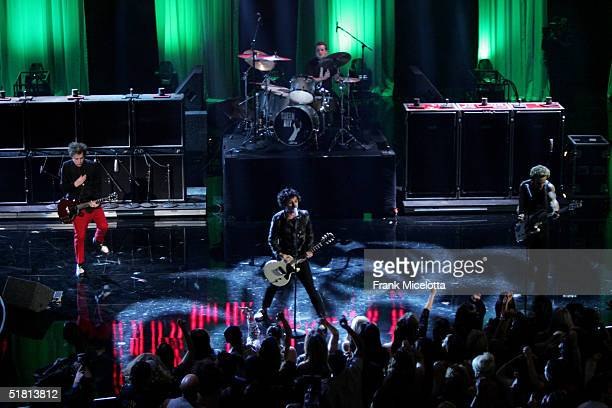 Billie Joe Armstrong of Greenday performs onstage during the VH1 Big in 04 at the Shrine Auditorium on December 1 2004 in Los Angeles California