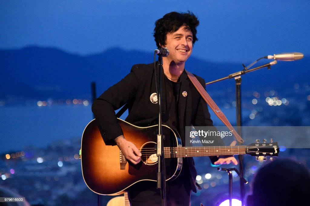 Billie Joe Armstrong performs during A Special Evening With Billie Joe Armstrong presented by Citi and Live Nation at Cannes Lions at Villa Alang Alang on June 20, 2018 in Cannes, France.