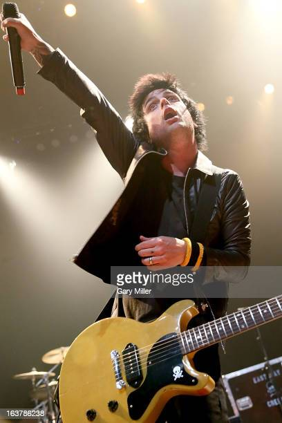 Billie Joe Armstrong performs in concert with Green Day at ACL Live during the South By Southwest Music Festival on March 15 2013 in Austin Texas