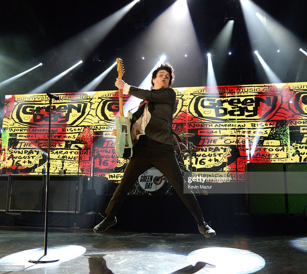 Billie Joe Armstrong performs onstage during the 30th Annual Rock And Roll Hall Of Fame Induction Ceremony at Public Hall on April 18, 2015 in Cleveland, Ohio.