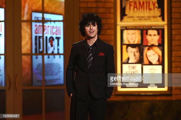 Billie Joe Armstrong speaks onstage during the 64th Annual Tony Awards at Radio City Music Hall on June 13 2010 in New York City