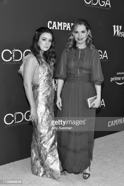 Billie Lourd and Leslie Grossman attend The 21st CDGA at The Beverly Hilton Hotel on February 19 2019 in Beverly Hills California