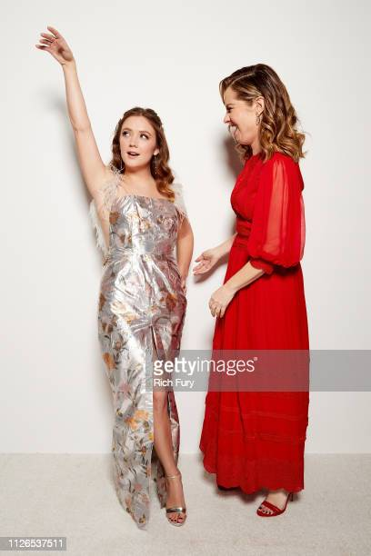 Billie Lourd and Leslie Grossman attend the 21st Costume Designers Guild Awards x Getty Images Portrait Studio presented by LG V40 ThinQ on February...