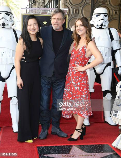 Billie Lourd and Mark Hamill Honored With Star On The Hollywood Walk Of Fame on March 8 2018 in Hollywood California
