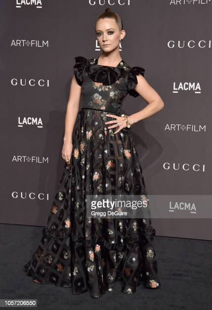 Billie Lourd arrives at the 2018 LACMA Art Film Gala at LACMA on November 3 2018 in Los Angeles California
