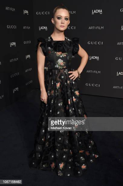 Billie Lourd attends 2018 LACMA Art Film Gala honoring Catherine Opie and Guillermo del Toro presented by Gucci at LACMA on November 3 2018 in Los...