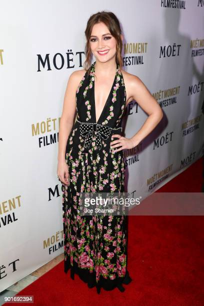 Billie Lourd attends Moet Chandon celebrates the 3rd annual Moet Moment Film Festival and kicks off Golden Globes week at Poppy on January 5 2018 in...