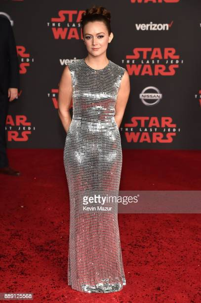 Billie Lourd attends the premiere of Disney Pictures and Lucasfilm's 'Star Wars The Last Jedi' at The Shrine Auditorium on December 9 2017 in Los...