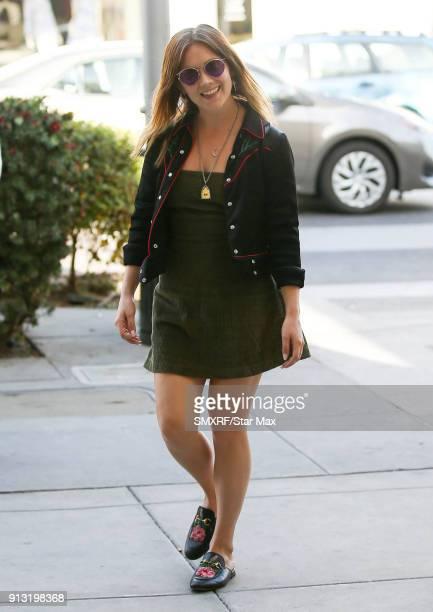 Billie Lourd is seen on February 1 2018 in Los Angeles CA
