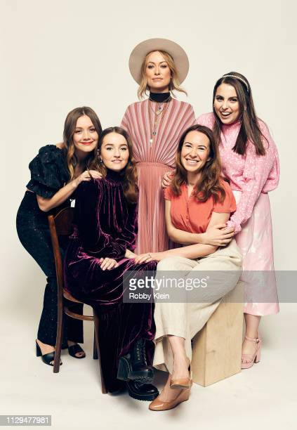 Billie Lourd Olivia Wilde Beanie Feldstein Kaitlyn Dever and Katie Silberman pose for a portrait in the 2019 SXSW Film Festival Portrait Studio on...