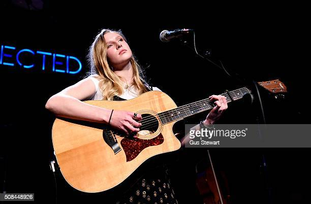 Billie Marten performs on stage at the ICA on February 4 2016 in London England