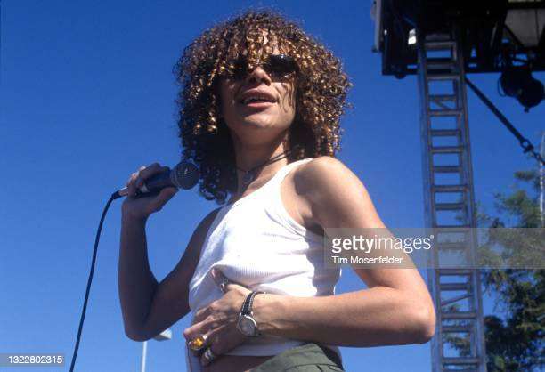 Billie Myers performs during the Lilith Fair at Shoreline Amphitheatre on June 24, 1998 in Mountain View, California.