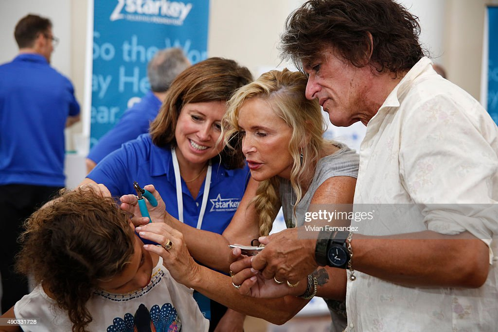 The Hollywood Vampires and Starkey Hearing Foundation Bring the Gift of Hearing to 200+ People In Need in Rio de Janeiro, Brazil : News Photo