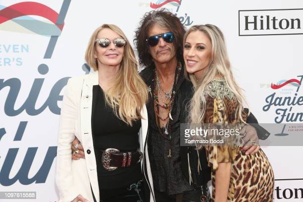 Billie Paulette Montgomery, Joe Perry and Aimee Preston attend Steven Tyler's Second Annual GRAMMY Awards Viewing Party to benefit Janie's Fund...