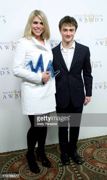 Billie Piper and Daniel Radcliffe at the 2006 South Bank Show Awards which were held at the Savoy in London She was presented the award for the...