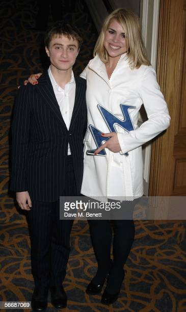 Billie Piper and Daniel Radcliffe pose in the press room with the award for best breakthrough for the tv drama Dr Who presented by Daniel Radcliffe...