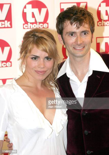 Billie Piper and David Tennant during TV Quick Awards TV Choice Awards Inside Arrivals at The Dorchester in London Great Britain