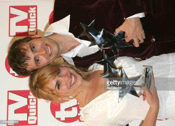 Billie Piper and David Tennant with awards for best actress best actor and best loved Drama 'Doctor Who'
