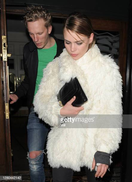 Billie Piper and her husband Laurence Fox leave Groucho private members club on February 25 2010 in London England