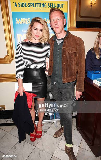 Billie Piper and Laurence Fox arrive for the press night performance of 'Dear Lupin' at The Apollo Theatre on August 3 2015 in London England