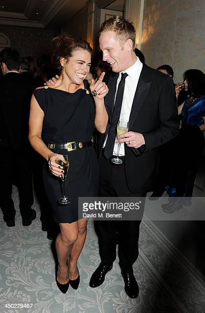 Billie Piper and Laurence Fox attend a drinks reception at the 59th London Evening Standard Theatre Awards at The Savoy Hotel on November 17 2013 in...