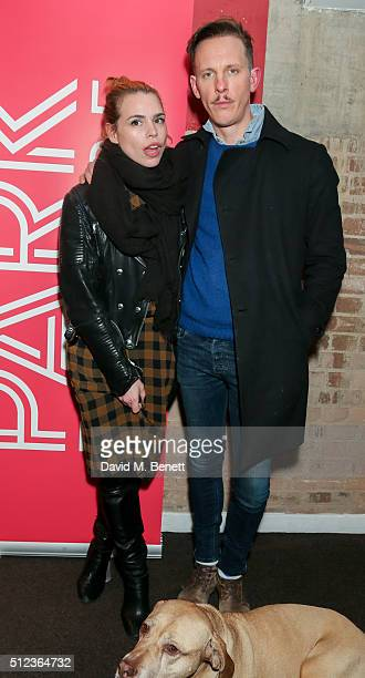 Billie Piper and Laurence Fox attend the press night performance of The Patriotic Traitor at the Park Theatre on February 25 2016 in London England