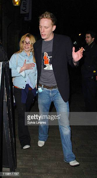 Billie Piper and Laurence Fox during Billie Piper Sighting at Garrick Theatre February 22 2007 at Garrick Theatre in London Great Britain