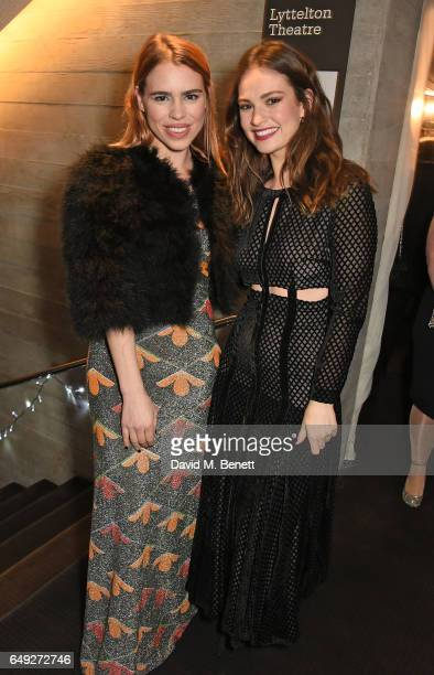 Billie Piper and Lily James attend 'Up Next The National Theatre's Annual Fundraising Gala' at The National Theatre on March 7 2017 in London England