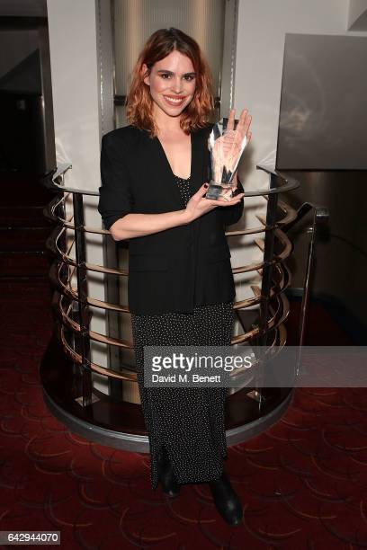 Billie Piper attends The 17th Annual WhatsOnStage Awards at The Prince of Wales Theatre on February 19 2017 in London England