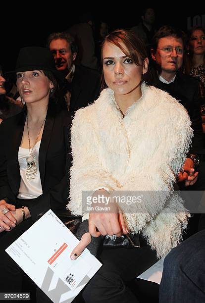 Billie Piper attends the Wintle show at the BFC Show space as part of London Fashion Week Autumn/Winter 2010 on February 24 2010 in London England