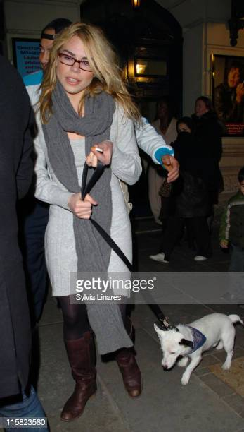 Billie Piper during Billie Piper Sighting at Garrick Theatre in London March 31 2007 in London Great Britain
