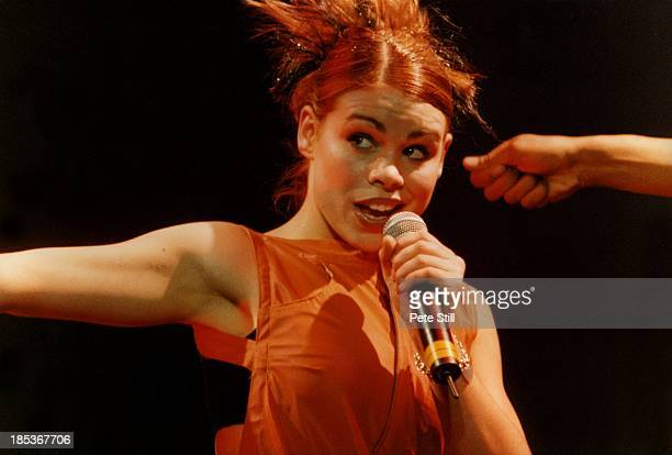 Billie Piper performs on stage on the 'Smash Hits' tour at the Apollo Theatre on November 27th 1998 in Manchester England