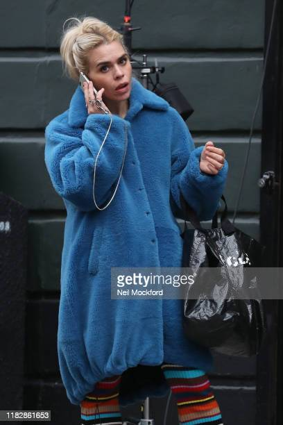 Billie Piper seen on set of new Sky original drama 'I Hate Suzie' in East London on October 23 2019 in London England