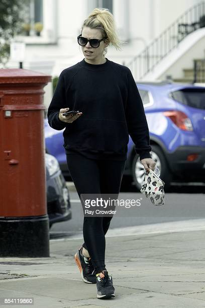 Billie Piper seen out in North London on September 26 2017 in London England