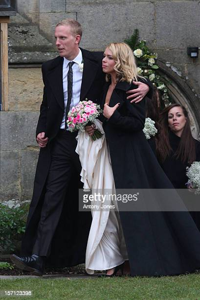 Billie Piper Weds Laurence Fox At The Parish Church Of St Mary In Easebourne, West Sussex..