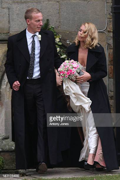 Billie Piper Weds Laurence Fox At The Parish Church Of St Mary In Easebourne West Sussex