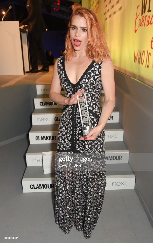 Billie Piper, winner of the Shiseido Group Theatre Award, attends the Glamour Women of The Year Awards 2017 in Berkeley Square Gardens on June 6, 2017 in London, England.