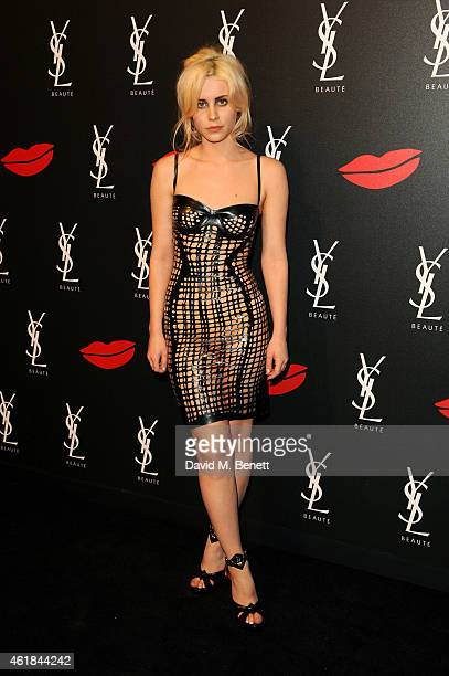 Billie Porter attends the YSL Beaute Makeup Celebration 'YSL Loves Your Lips' in the presence of Cara Delevingne at The Boiler House The Old Truman...