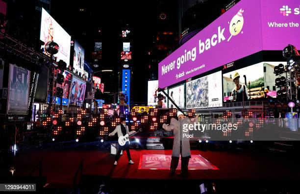 Billie Porter performs live from Times Square during 2021 New Year's Eve celebrations on December 31, 2020 in New York City.