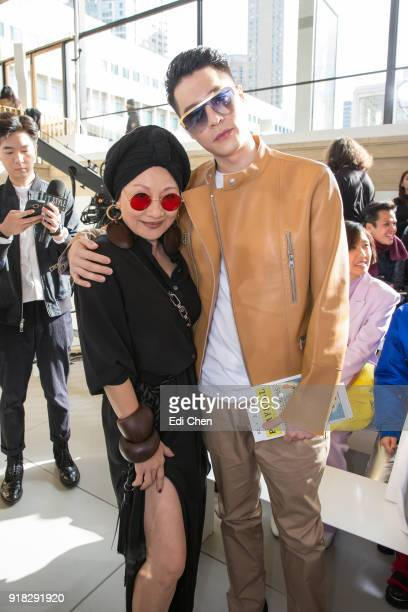 Billie Wang and Nick Chou attend the Michael Kors Collection Fall 2018 Runway Show at the Vivian Beaumont Theatre on February 14 2018 in New York City