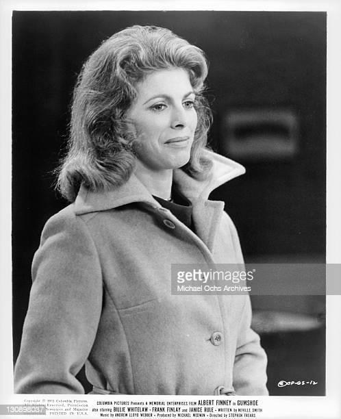Billie Whitelaw in a scene from the film 'Gumshoe', 1971.