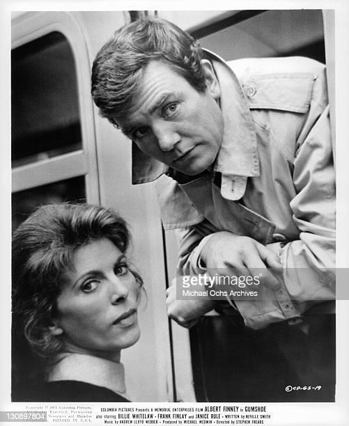 Billie Whitelaw says goodbye to Albert Finney in a scene from the film 'Gumshoe' 1971