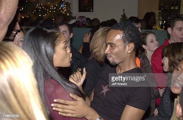 Billie Woodruf Arnelle Simpson during Xmas party for Geneva's The Source Sound Lab and the launch of GotaGota Ent in Los Angeles California United...