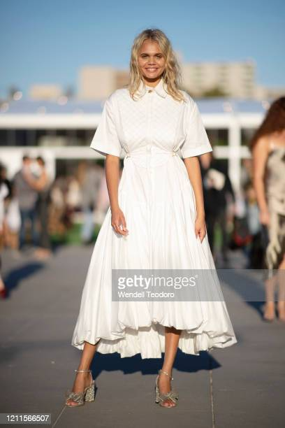 BillieJean Hamlet poses ahead of the Gala Runway 1 show at Melbourne Fashion Festival on March 10 2020 in Melbourne Australia