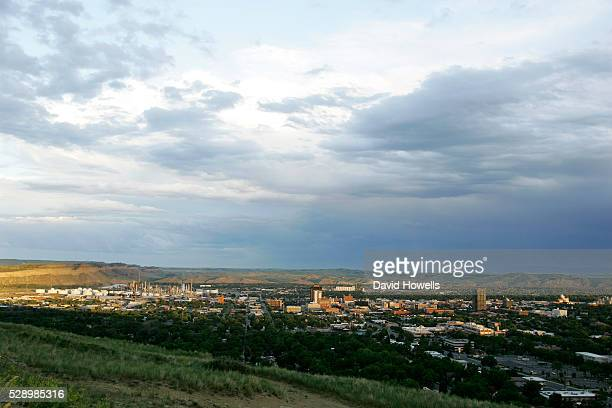 Billings Montana at sunset seen from the airport