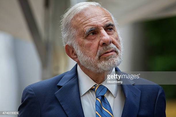 Billionaire activist investor Carl Icahn attends the Leveraged Finance Fights Melanoma charity event in New York US on Tuesday May 19 2015 Lyft Inc...