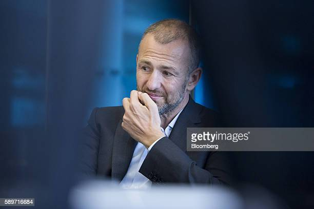 Billionaire Andrey Melnichenko owner of EuroChem Group AG pauses during a meeting in London UK on Monday Aug 15 2016 EuroChem Group AGs new mines in...