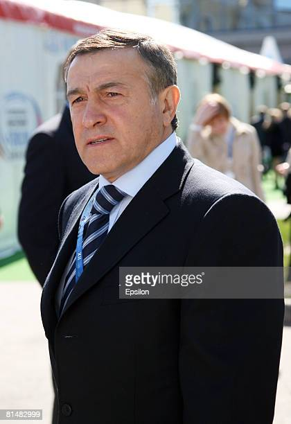 Billionaire Aras Agalarov attends the 12th St Petersburg International Economic Forum on June 7 2008 in St Petersburg Russia Newly appointed Russian...