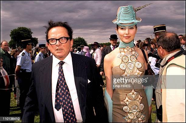 Billionaire art dealer Alec Wildenstein with his second wife Liouba at Chantilly Racecourse where Wildenstein's horse Aquarelliste won the Prix de...