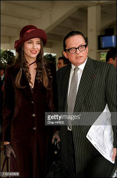 Billionaire art dealer Alec Wildenstein with his second wife Liouba attend Prix de l' Arc de triomphe the main event in the European racing season in...